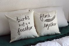 Birds of a Feather Flock Together  His and Hers by ZanaProducts
