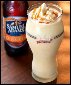 Sam Adams Oktoberfest Shake. Soft serve vanilla ice cream, Octoberfest draught, vanilla syrup and caramel.