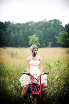I would totally ride my dirt bike in my dress after the big day!!!  :}