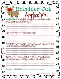first grade transition words paragraph how to decorate a  reindeer job application fun christmas writing activity for kids seen this done kids pictures they add their own antlers and nose