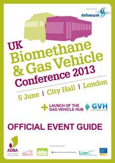 Uk Biomethane & Gas Vehicle Conference programme design by Lunatrix Design www.lunatrix.co.uk #programmedesign #brochuredesign