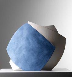 Frances Priest - Blue Peel. Ceramic, slip 45x45x15cms 2008.