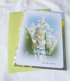 """Carte double 1er mai """" Muguet porte bonheur """" 10x15cm : Cartes par celinephotosartnature Floral, Nature, Photos, Etsy, May 1, Handmade Gifts, Cards, Pictures, Flowers"""