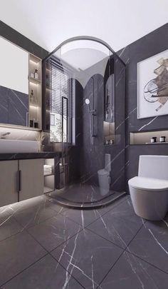 Washroom Design, Modern Bathroom Design, Bathroom Interior Design, Bathroom Layout, Modern Bathrooms, Modern Toilet Design, Modern Luxury Bathroom, Minimalist Bathroom Design, Bathroom Design Inspiration