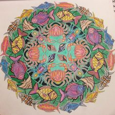 """One down..  #myCreativeEscape #johannabasford #lostocean"""