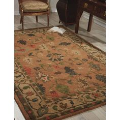 Nourison Hand-Knotted Tahoe Copper Rug