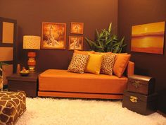 "1:6 doll furniture | Sunset"" 1:6 scale living room 