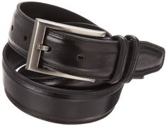 Geoffrey Beene Mens Feather Edge Reversible Dress Belt with Nickel Buckle