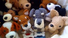 Custom stuffed animal Crochet dog Amigurumi dog Doll by Inugurumi, $18.00