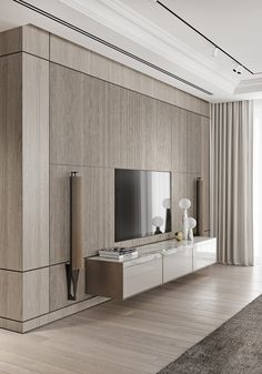 Magnificent Modern Marble Interior With Metallic Accents - Magnificent Modern M. - Magnificent Modern Marble Interior With Metallic Accents – Magnificent Modern Marble Interior Wi - Tv Wall Design, Design Case, House Design, Feature Wall Design, Living Room Interior, Home Interior Design, Modern Interior Doors, Simple Interior, Interior Livingroom