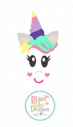Pretty Unicorn Face SVG, DXF, EPS, PNG cut file