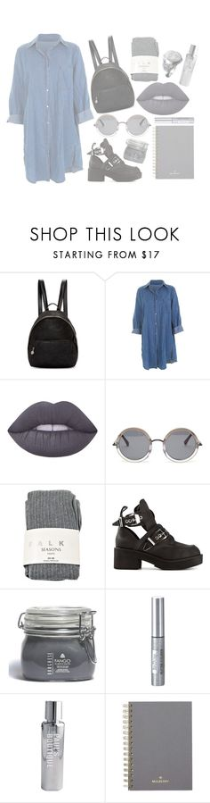 """""""Ariana G look"""" by mode-222 ❤ liked on Polyvore featuring STELLA McCARTNEY, Lime Crime, The Row, Falke, Jeffrey Campbell, Borghese, Isadora, Paul's Boutique and Mulberry"""