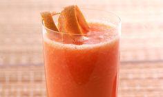Suco de papaia e laranja