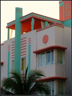 Art Deco building in South Beach, Miami.