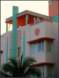 Art Deco building in South Beach, Miami ~Repinned Via Sarah Cox