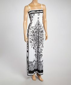 Love this Black & White Paisley Maxi Dress - Women on #zulily! #zulilyfinds
