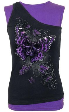 Butterfly Skull top ~ Spiral Direct