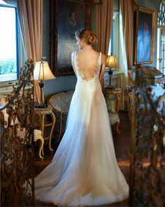 Elbeth Gillis Bridal - the Adele gown, using the best Chantilly lace.
