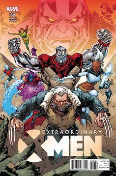 Extraordinary X-Men #8 cover by Ken Lashley