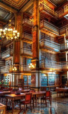 This is the State Law Library of Iowa. Gives kind of a Harry Potter feeling to it.