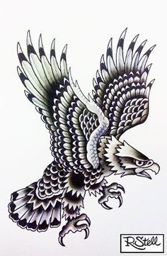 Znalezione obrazy dla zapytania eagle traditional tattoo