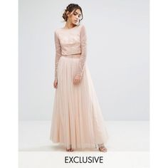 Maya Maxi Tulle Skirt With Beaded Waistband (340 SAR) ❤ liked on Polyvore featuring skirts, pink, long skirts, high-waisted skirts, high-waisted maxi skirts, sequin skirts and tulle maxi skirt