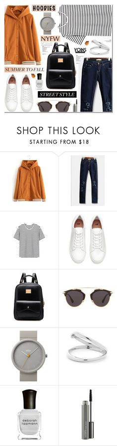 """""""Street Style -Hoodies & Sneakers-Yoins 11"""" by anyasdesigns ❤ liked on Polyvore featuring H&M, Christian Dior, Braun, Deborah Lippmann, MAC Cosmetics, yoins, yoinscollection and loveyoins"""