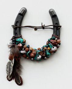Beaded Spirit Horseshoe by WhiteFeatherJewelry on Etsy, $38.50
