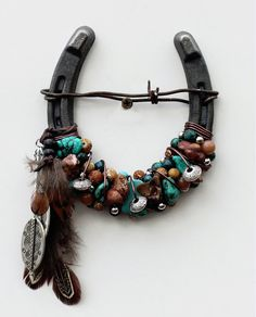 Beaded Spirit Horseshoe by WhiteFeatherJewelry on Etsy, $38.50