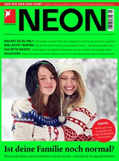 Die neue Ausgabe von NEON - ab 10. Dezember im Handel! http://www.neon.de/    - Titelgeschichte: Ist deine Familie noch normal? Warum uns Eltern und Geschwister so leicht nerven - obwohl wir sie eigentlich lieben  - Machst du zu viel? Job, Studium, Freunde: wann Stress ungesund ist und wie man sich besser organisiert    ...und vieles mehr!