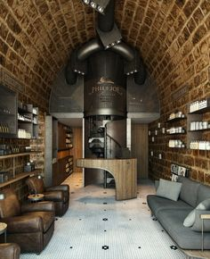 A Barber shop soon to be opened in Gemayzeh proudly designed by Bachir Nader And visualized by Kframe Barber Shop Interior, Barber Shop Decor, Beauty Salon Interior, Commercial Interior Design, Commercial Interiors, Best Barber Shop, Barber Man, Joe Barber, Undercut Styles