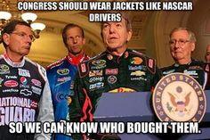 Tip for Congress, Courtesy of NASCAR