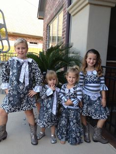 The girls modeling Fall 2013 collection