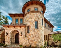 Beautiful Hacienda Style Home Plans : Mediterranean Exterior With Stones Wall For Your Hacienda Style Home Plans