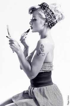 Beauty is skin deep. A tattoo goes all the way to the bone...Pin up girls…