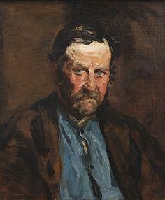 Blue Eyed Man by Robert Henri American Realism, American Art, Man Ray, Edward Hooper, Ashcan School, Art Bin, Robert Henri, Blue Eyed Men, Most Famous Artists