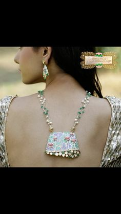 Beautiful plique a'jour enamel in blue and green. #designersonalsawasnukha