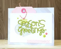 Card by PS DT Ashley Marcu using PS Ornaments, Christmas Words 2