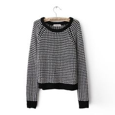 fall 2013 the new Europe and the end of women's clothing leisure Plaid fashion long sleeve slim jumper [#132]
