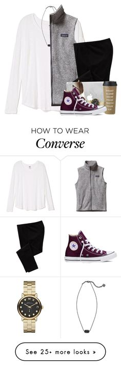 """""""didja miss me """" by livinginhislight on Polyvore featuring Kendra Scott, Patagonia, Old Navy, Kate Spade, Marc by Marc Jacobs, Ray-Ban, Converse, women's clothing, women and female"""