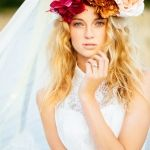 Vibrant and Oversized Wedding Flower Crown