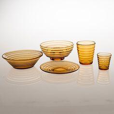 AINO AALTO - Set of Bölgeblick glassware by Karhula, in production 1935-1938, Finland.