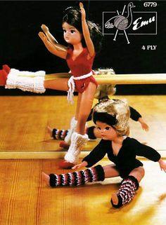 Vintage Sindy Barbie Doll Clothes Gym Knitting Pattern Leotard Sindy Doll, Barbie Toys, Barbie Clothes, Barbie And Ken, Couture, Vintage Barbie, Vintage Dolls, Vintage Knitting, Dance Outfits