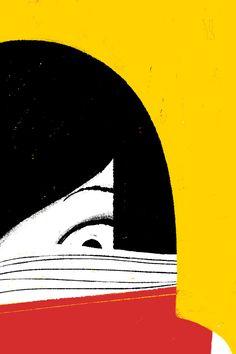 La lectura nos sumerge en otras vidas, en otros lugares. Nos atrapa! (ilustración de Simone Massoni)
