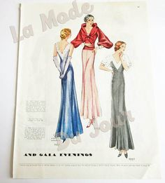 This is a beautiful and quite large vintage McCalls magazine page filled with…