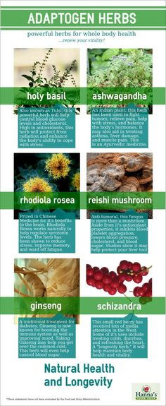 Adaptogen #herbs have used for centuries for natural longevity  #infographic