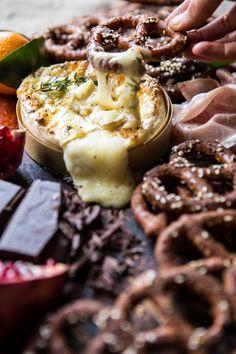 Honey Baked Brie with Seasoned Pretzels (EASY CHRISTMAS APPETIZER) | halfbakedharvest.com @hbharvest