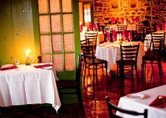Les Ancêtres | Auberge et Restaurant | Ile d'Orléans | Restauration Cap Breton, Tour, Restaurant, Wedding Ideas, Table Decorations, Furniture, Home Decor, Traditional Kitchen, Restoration