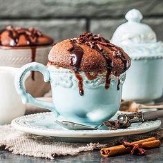 Schneller Low Carb Schoko-Tassenkuchen mit Zimt