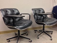 Knoll Pollock Office Chairs with Tablet Arms, $450